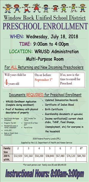 WRUSD Preschool Enrollment